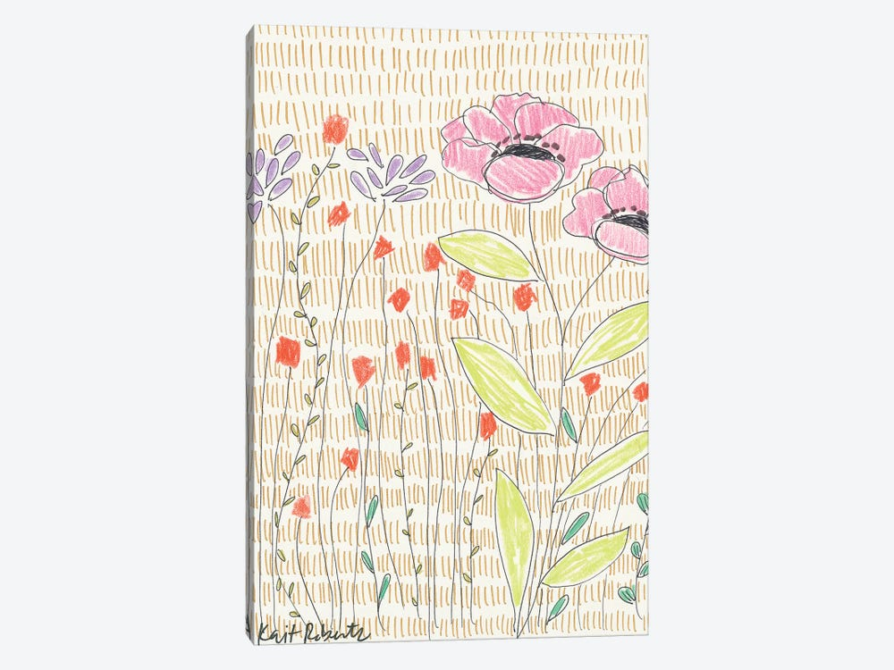 P is for Polite Poppies by Kait Roberts 1-piece Canvas Artwork
