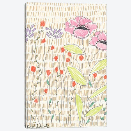 P is for Polite Poppies 3-Piece Canvas #KAI82} by Kait Roberts Canvas Wall Art