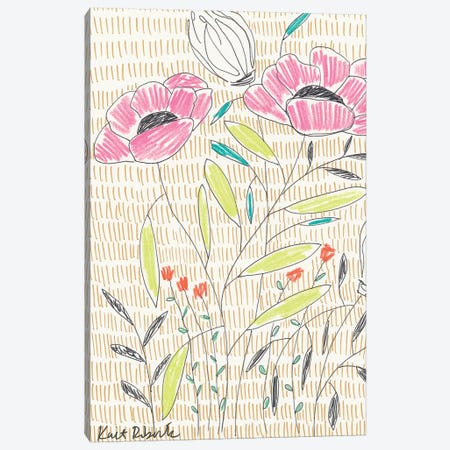 P is for Posing Poppies Canvas Print #KAI83} by Kait Roberts Canvas Artwork