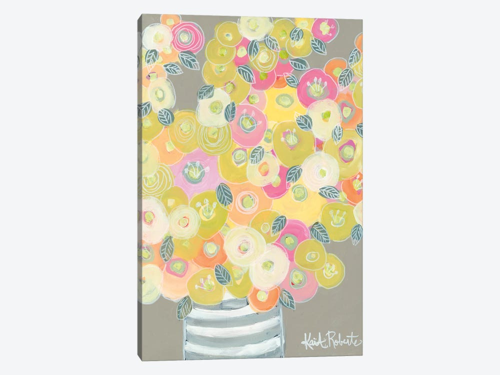 Pleasant Poppies by Kait Roberts 1-piece Canvas Print