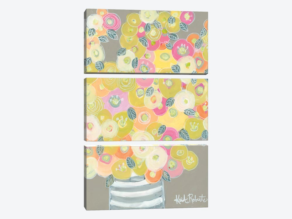 Pleasant Poppies by Kait Roberts 3-piece Art Print