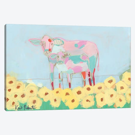 Rory and Teal Canvas Print #KAI91} by Kait Roberts Canvas Art Print