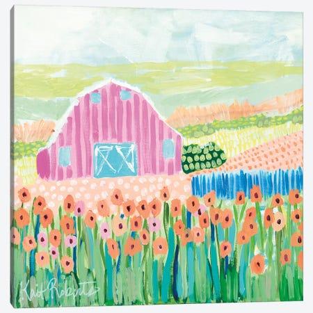 Strolling the Farm Canvas Print #KAI98} by Kait Roberts Canvas Print