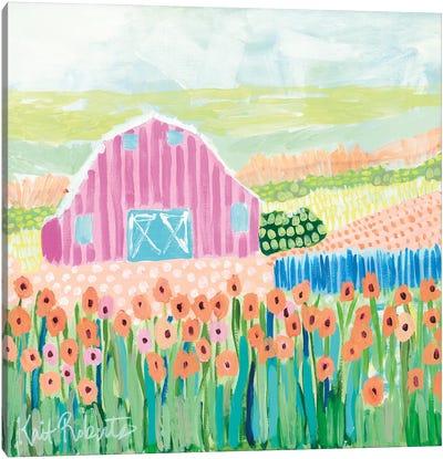 Strolling the Farm Canvas Art Print