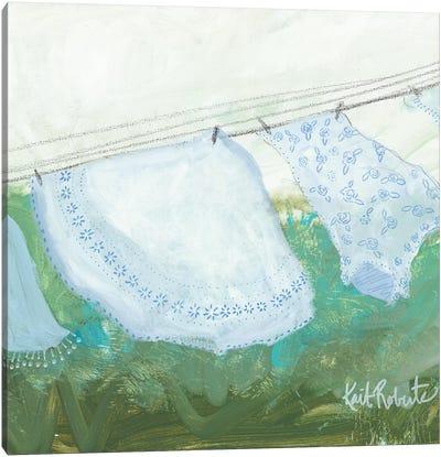 Sun-Bleached Linens Canvas Art Print