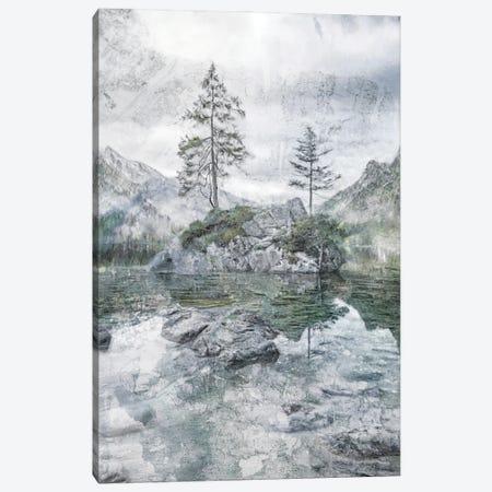 Lake Mountain Solitude Canvas Print #KAJ105} by Katrina Jones Canvas Wall Art