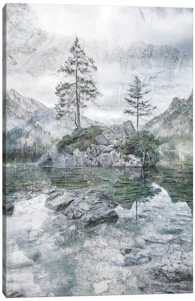 Lake Mountain Solitude Canvas Art Print