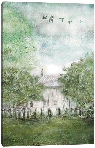 Old Spring House Canvas Art Print