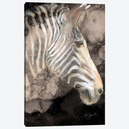 Portrait Of A Zebra Canvas Print #KAJ109} by Katrina Jones Canvas Print