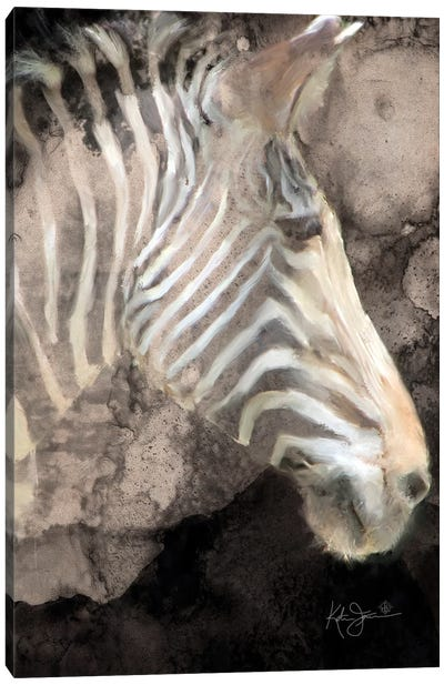 Portrait Of A Zebra Canvas Art Print