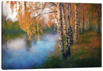 River Birches Canvas Art Print