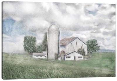 Summer Country Barn Canvas Art Print