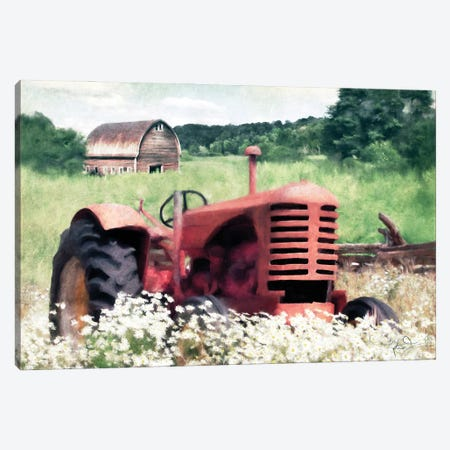 Summer Tractor Canvas Print #KAJ128} by Katrina Jones Canvas Print