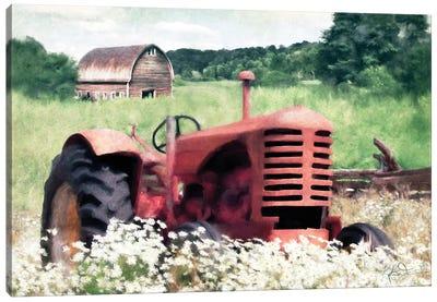 Summer Tractor Canvas Art Print