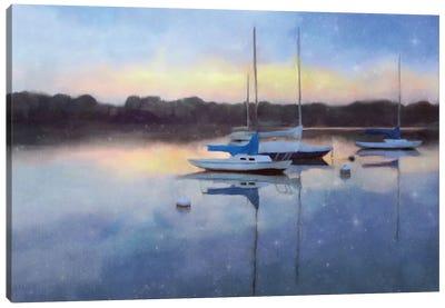 Sunrise Marina Canvas Art Print