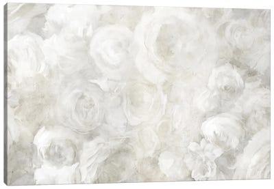 White Floral Field View Canvas Art Print