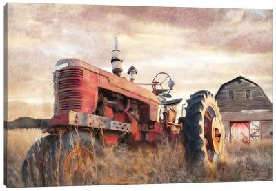 Autumn Tractor Canvas Art Print