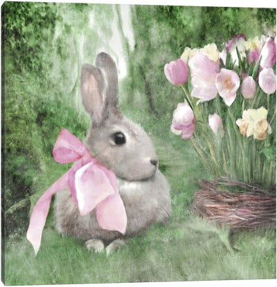 Spring Forest Bunny Canvas Art Print