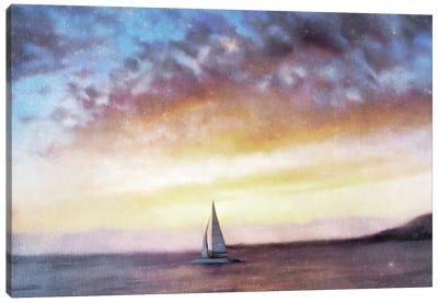 Sailboat Sunset Canvas Art Print
