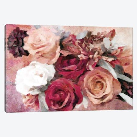 Crimson And Coral Floral Canvas Print #KAJ92} by Katrina Jones Canvas Artwork