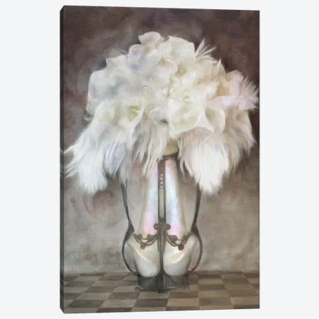 White Feather Deco Bouquet Canvas Print #KAJ98} by Katrina Jones Canvas Artwork