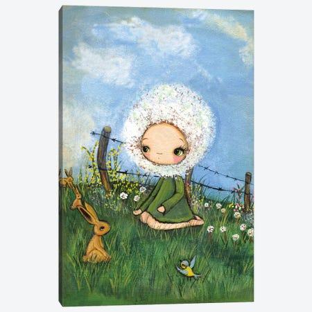 A Dandelion Day Canvas Print #KAK10} by Kelly Ann Kost Canvas Art Print