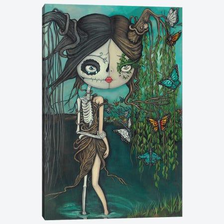 Skeleton Willow Canvas Print #KAK12} by Kelly Ann Kost Art Print