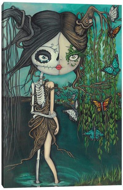 Skeleton Willow Canvas Art Print