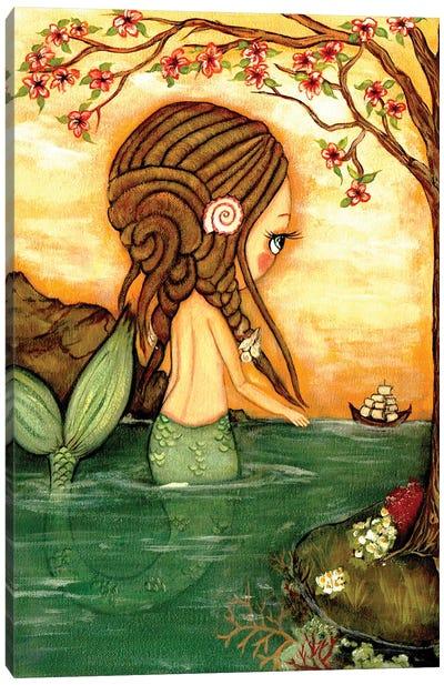 Dreadlock Mermaid Canvas Art Print