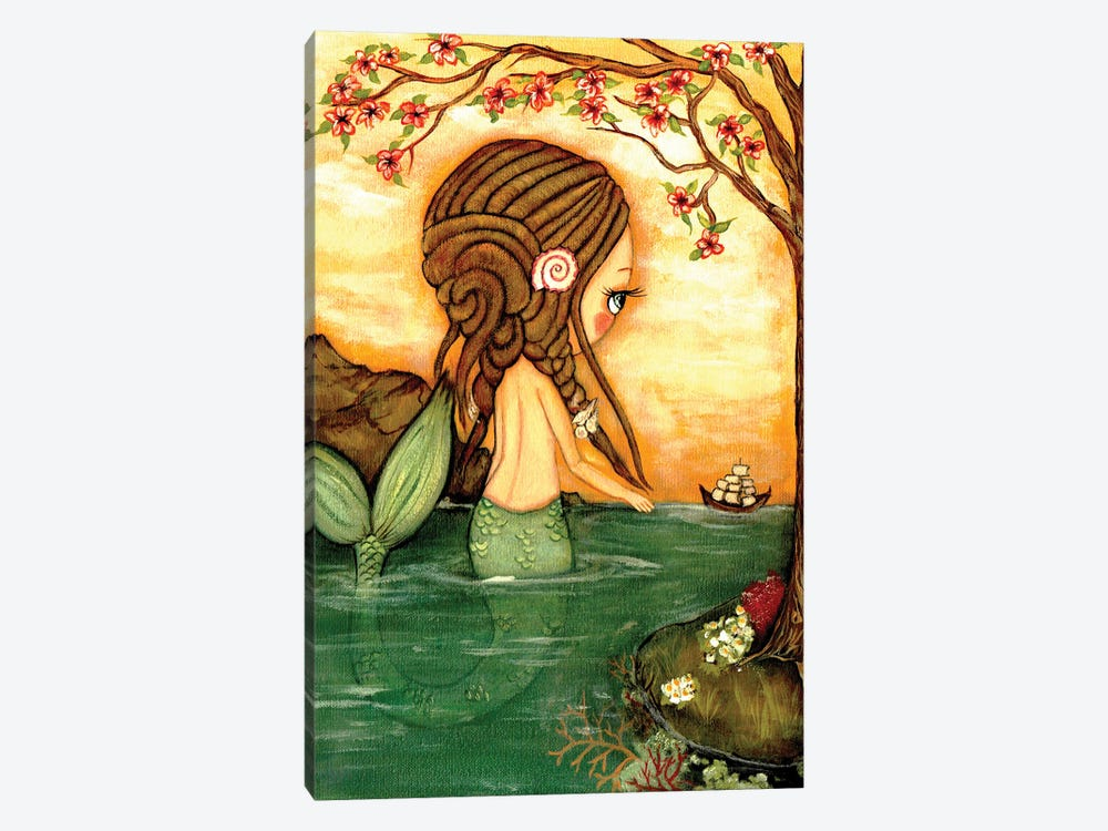 Dreadlock Mermaid by Kelly Ann Kost 1-piece Canvas Artwork