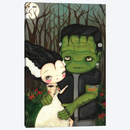 Frankenstein And Bride Canvas Print #KAK16} by Kelly Ann Kost Canvas Artwork
