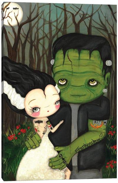 Frankenstein And Bride Canvas Art Print