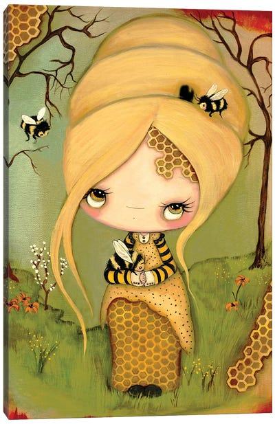Honey Bee Canvas Art Print