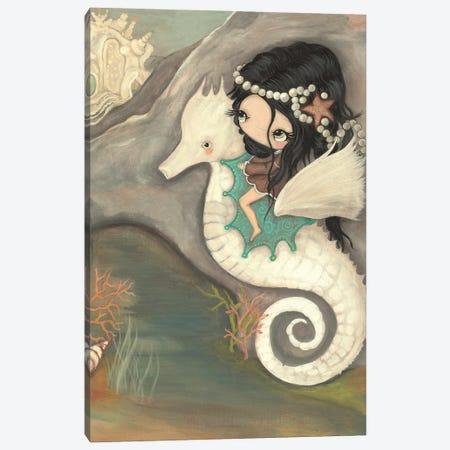 Seahorse Castle Canvas Print #KAK19} by Kelly Ann Kost Art Print