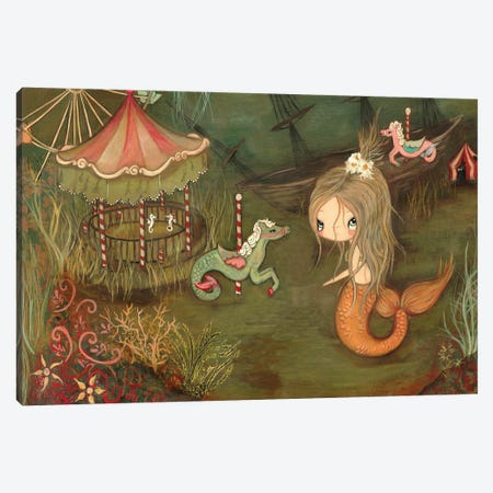 The Lost Carnival Canvas Print #KAK24} by Kelly Ann Kost Art Print