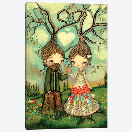 Growing Love Trees Canvas Print #KAK26} by Kelly Ann Kost Canvas Print