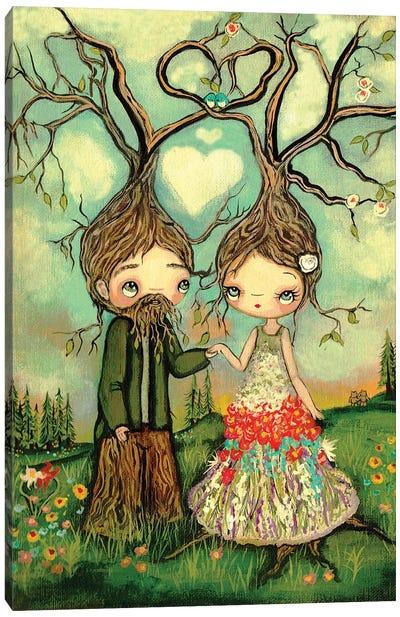 Growing Love Trees Canvas Art Print