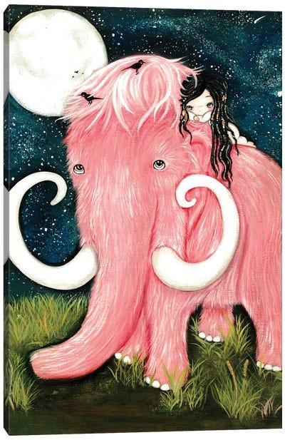Pink Woolly Mammoth Canvas Art Print