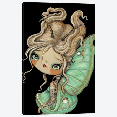 Tattooed Moon Moth Canvas Print #KAK32} by Kelly Ann Kost Canvas Art Print