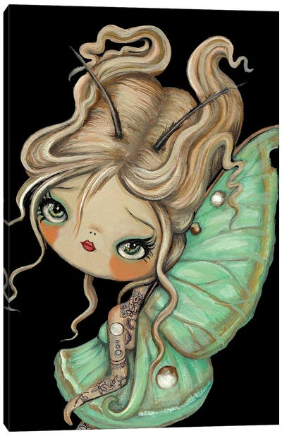 Tattooed Moon Moth Canvas Art Print