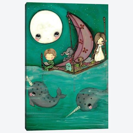 Narwhal Dreams Canvas Print #KAK34} by Kelly Ann Kost Canvas Art