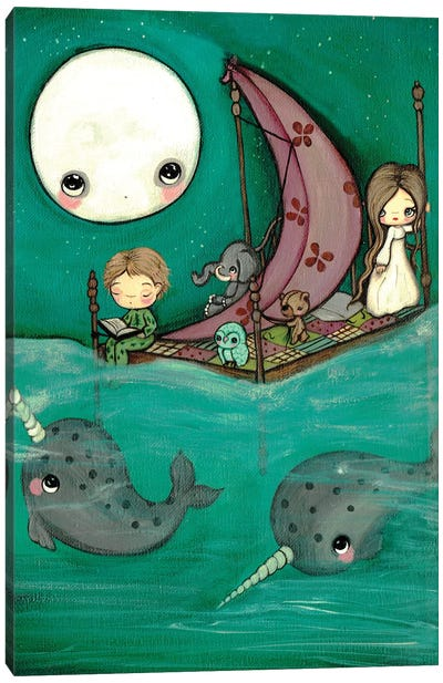 Narwhal Dreams Canvas Art Print