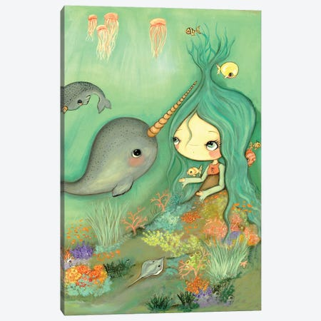 Under The Sea Canvas Print #KAK35} by Kelly Ann Kost Canvas Artwork