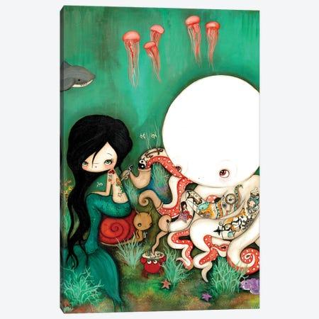The Octopus Tattooist Canvas Print #KAK37} by Kelly Ann Kost Canvas Wall Art