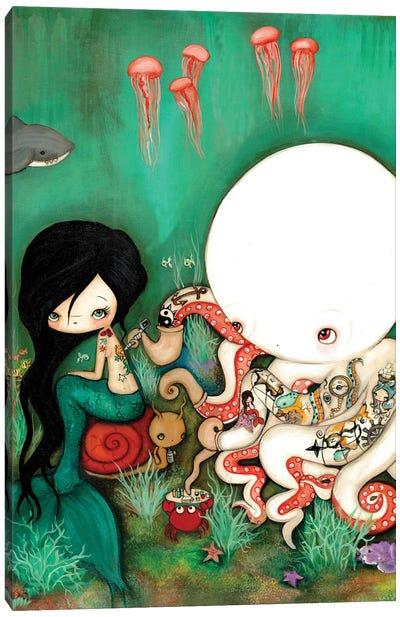 The Octopus Tattooist Canvas Art Print