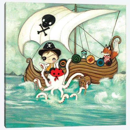 Pirate Canvas Print #KAK41} by Kelly Ann Kost Canvas Art