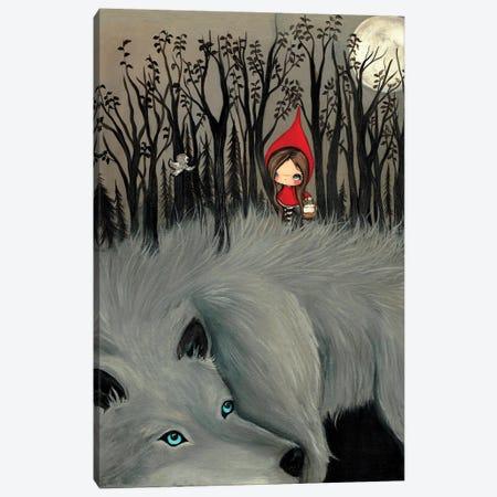 The Dark Fur Forest Canvas Print #KAK44} by Kelly Ann Kost Canvas Art Print