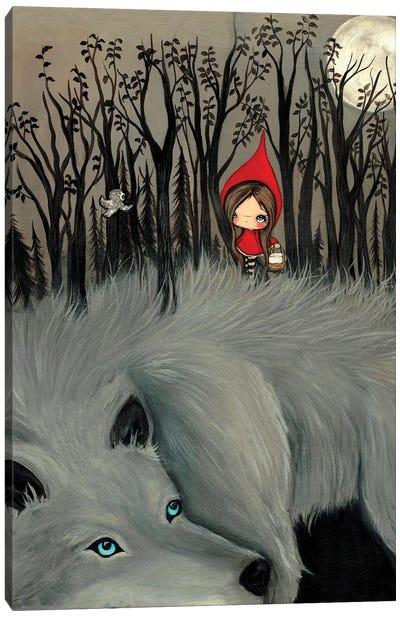 The Dark Fur Forest Canvas Art Print