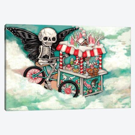 Skeleton Candy Cart Canvas Print #KAK47} by Kelly Ann Kost Canvas Art Print