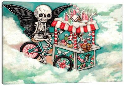 Skeleton Candy Cart Canvas Art Print